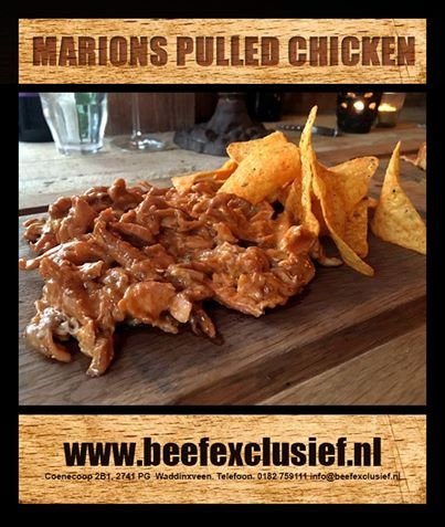 MARIONS SMOKING HOT ALL AMERICAN NACHO CHEESE PULLED CHICKEN