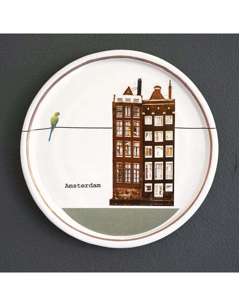 Keramieken bordje met print: Pandjesbaas