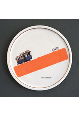 Keramieken bordje met print: Tring tring