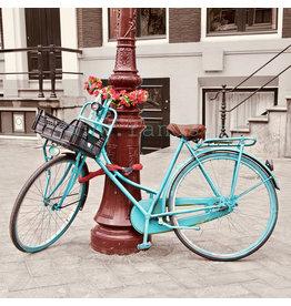 Turkoise fiets