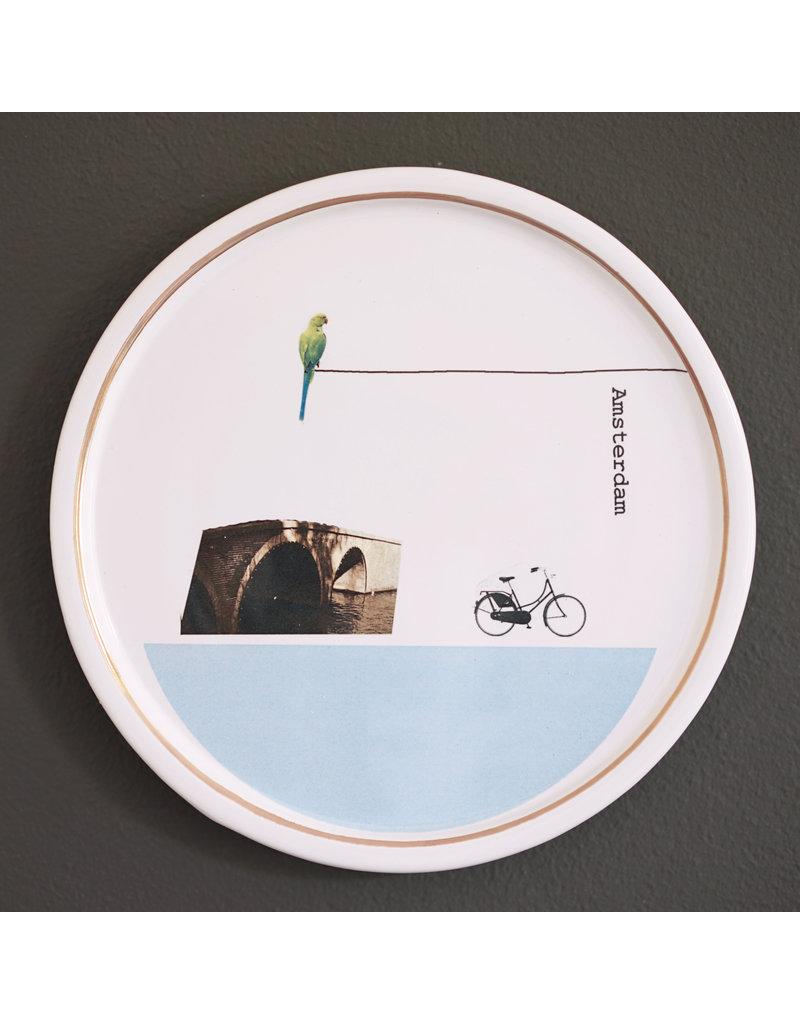 Keramieken bordje met print: Brugwachtertje