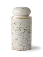 HK living Ceramic 70's storage jar : hail