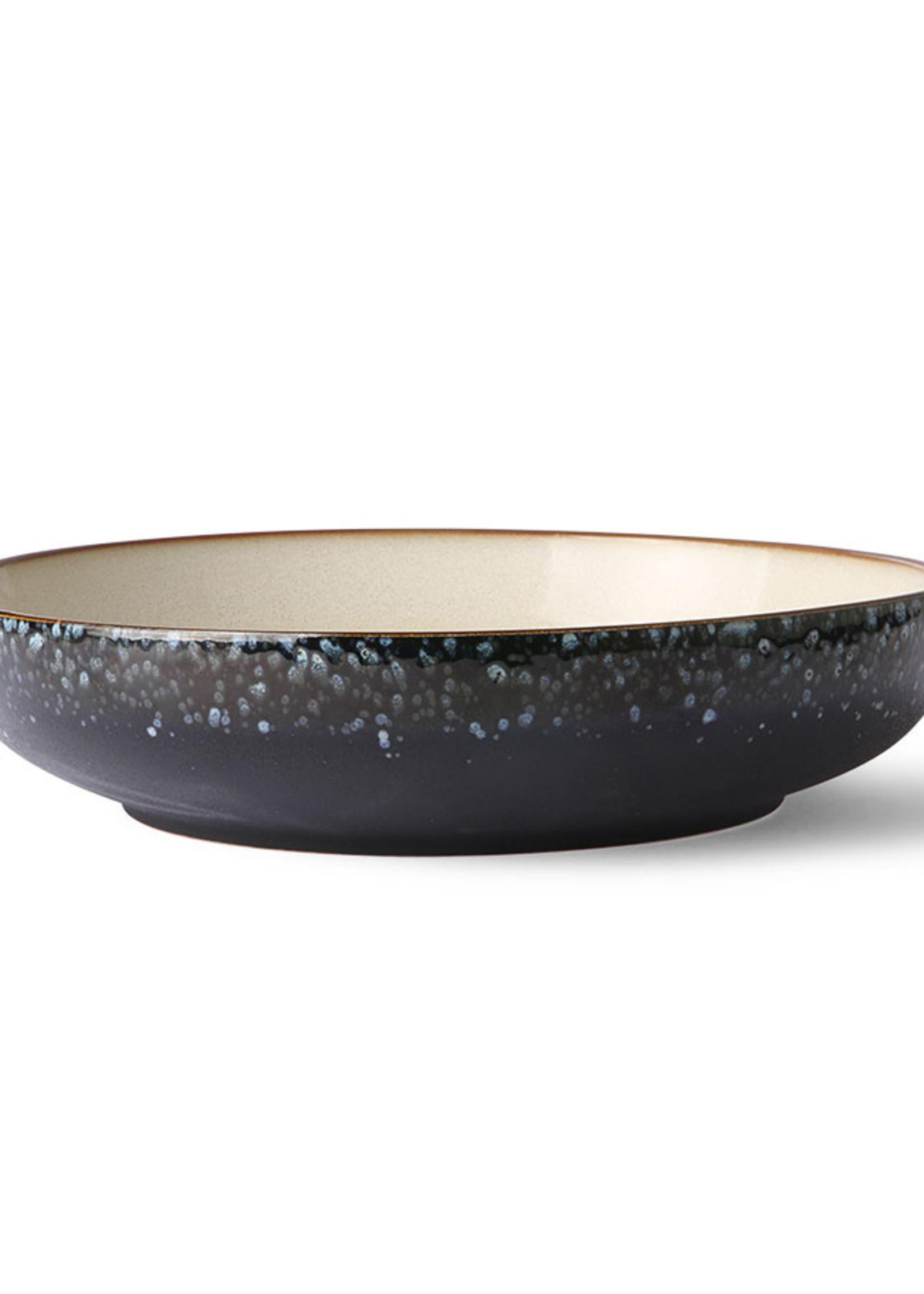 HK living Ceramic 70's salad bowl: galaxy