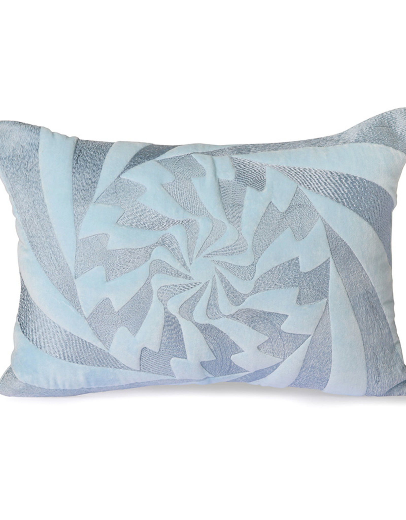 HK living Graphic embroidered cushion