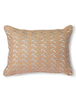 HK living Nude cushion with silver patches