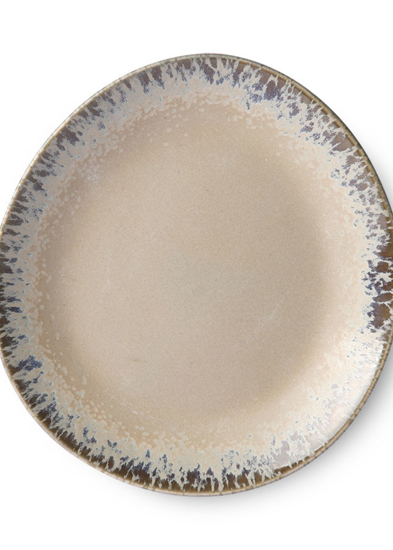 HK living ceramic 70's side plate: bark