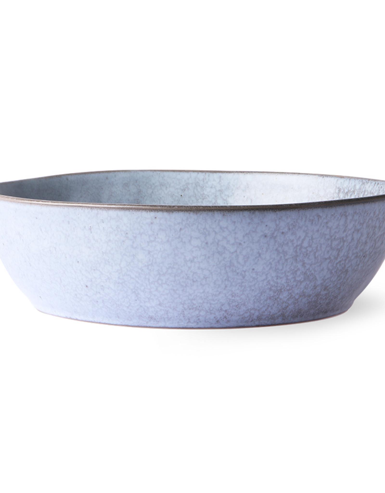HK living Bold & Basic ceramic: rustic grey bowl L