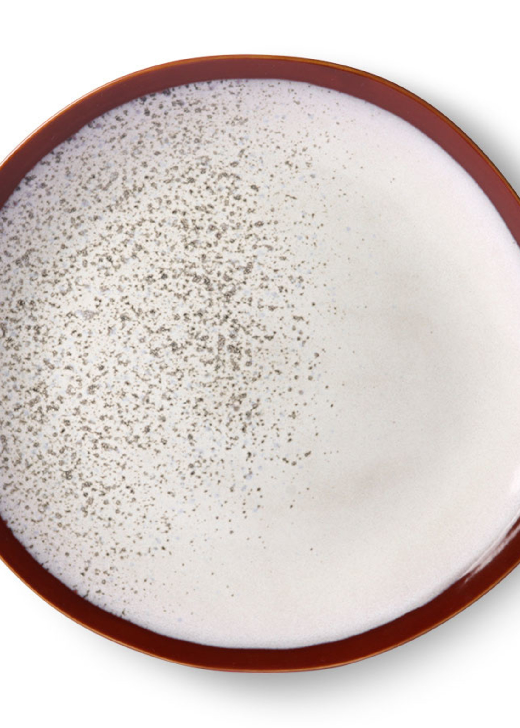 HK living Ceramic 70's dinner plate: frost