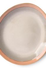HK living Ceramic 70's dinner plate: earth