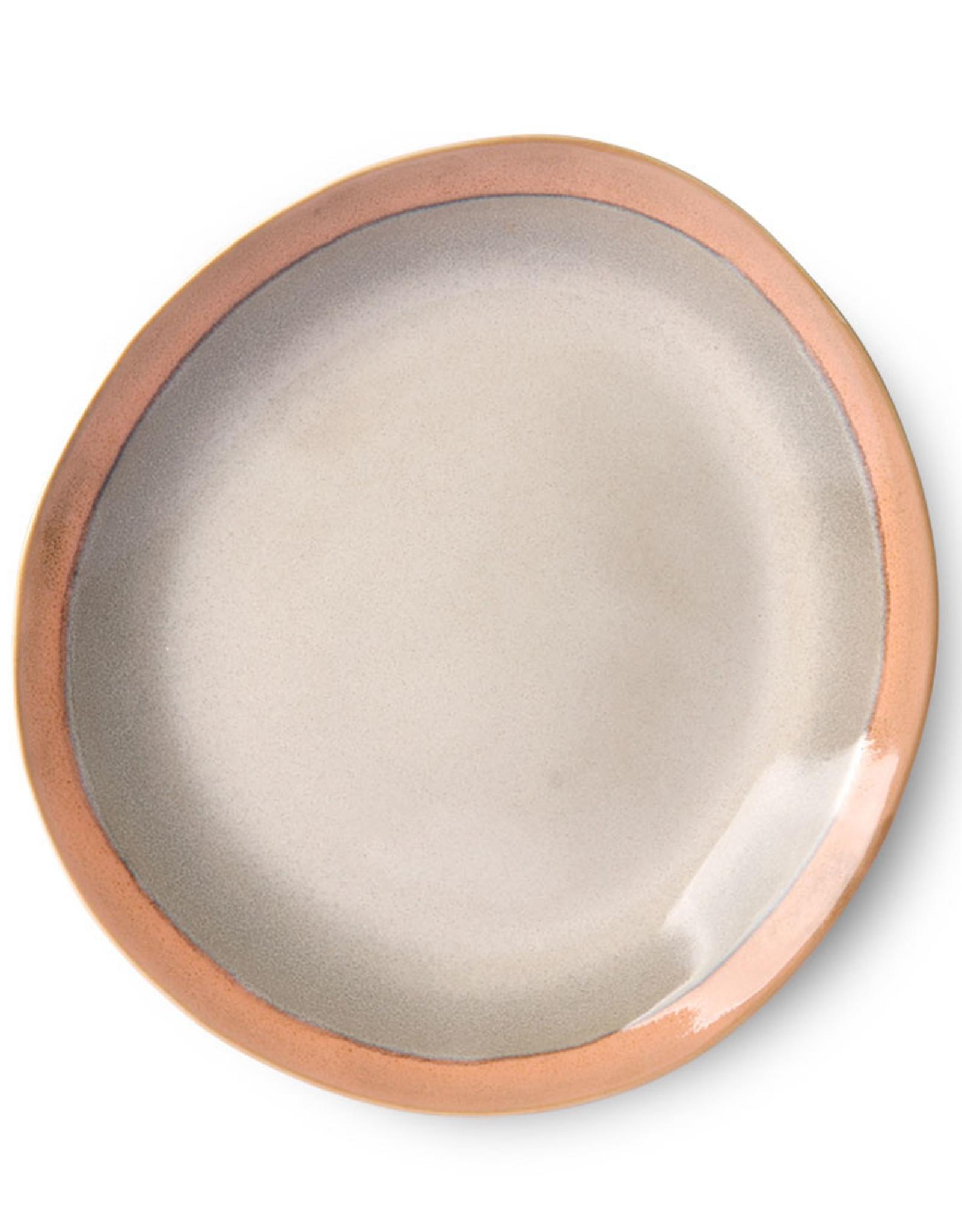 HK living Ceramic 70's side plate: earth