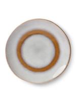 HK living Ceramic 70's dessert plate: snow