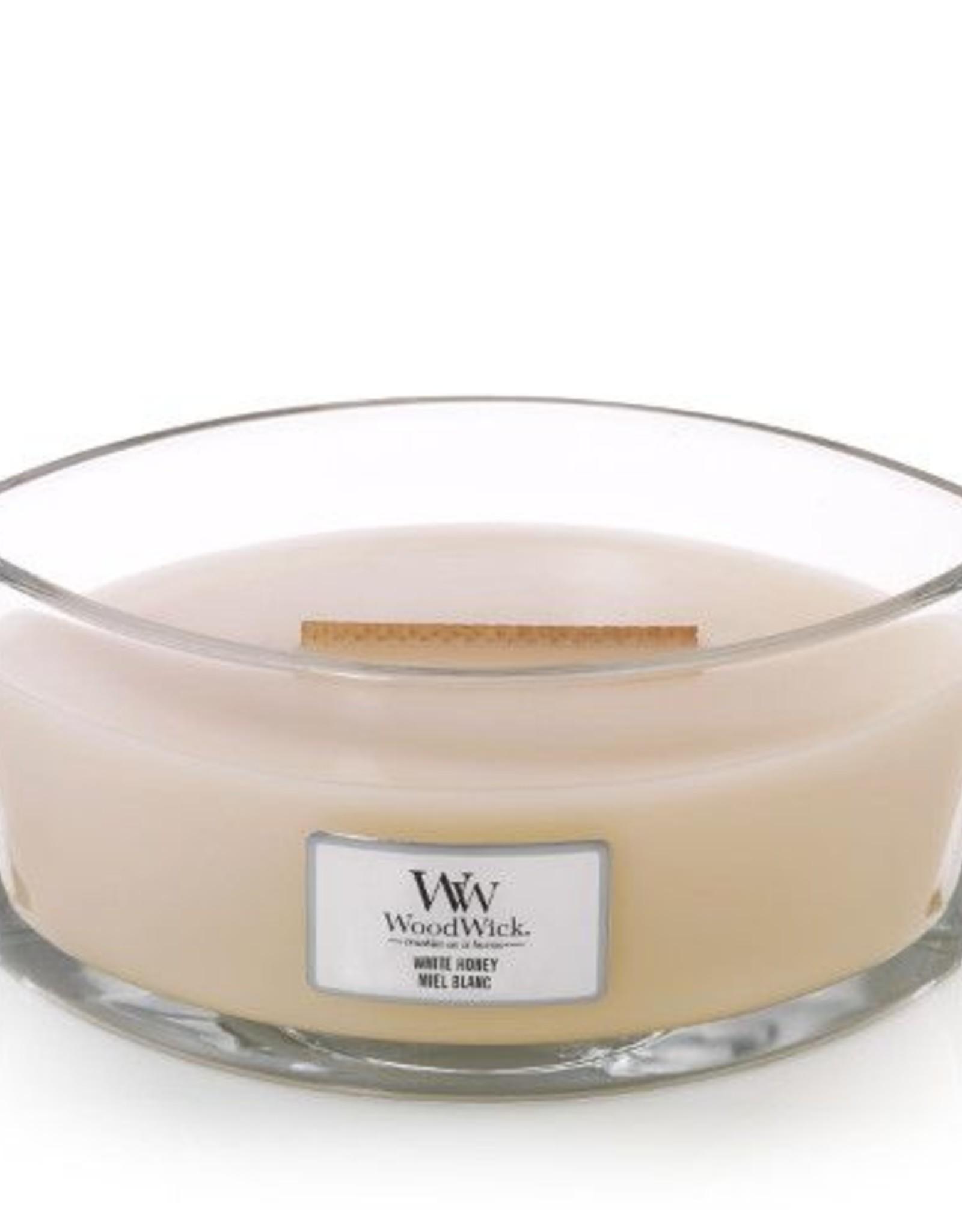 Woodwick Woodwick White Honey Ellipse Candle