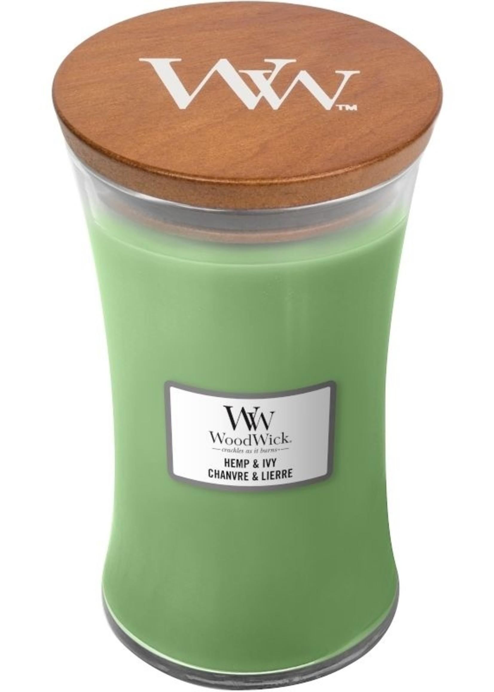 Woodwick Woodwick Hemp & Ivy Large Candle