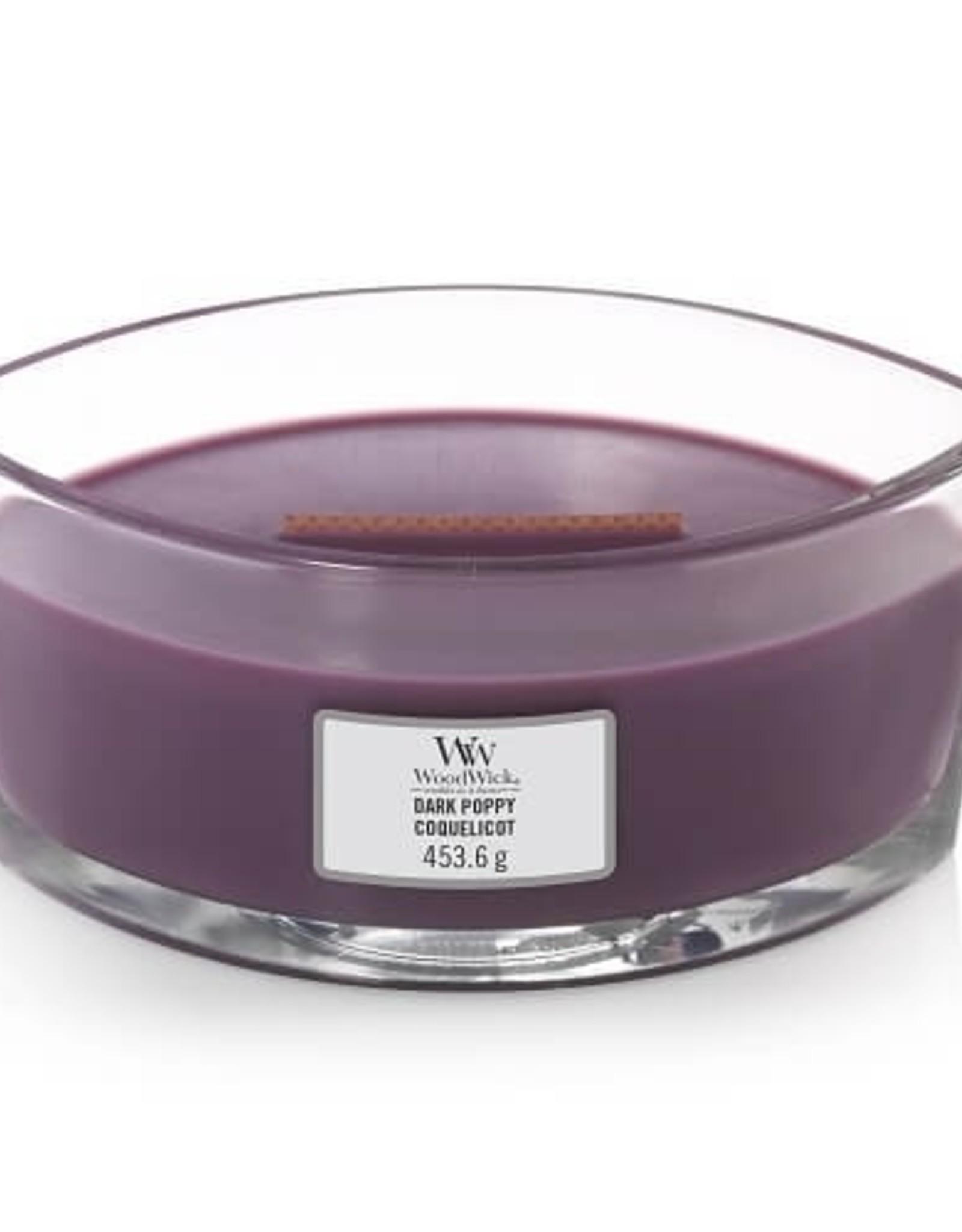 Woodwick Woodwick Dark Poppy Ellipse Candle