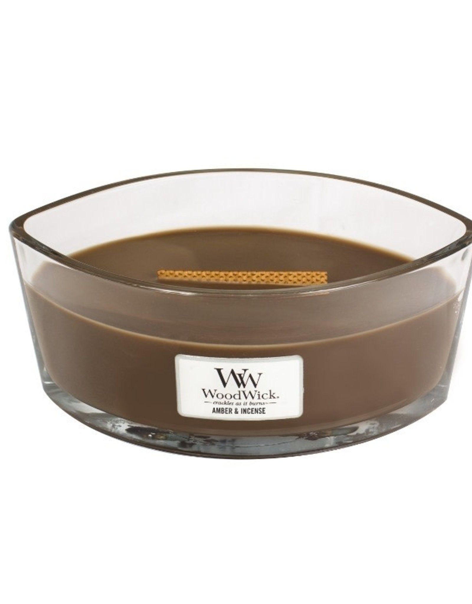 Woodwick Woodwick Amber & Incense Ellipse Candle