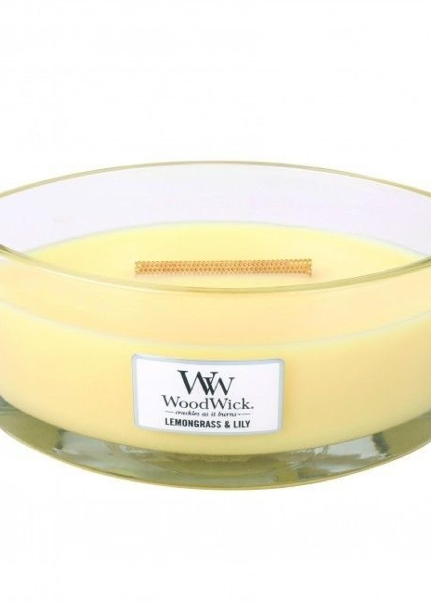 Woodwick Woodwick Lemongrass & Lily Ellipse Candle