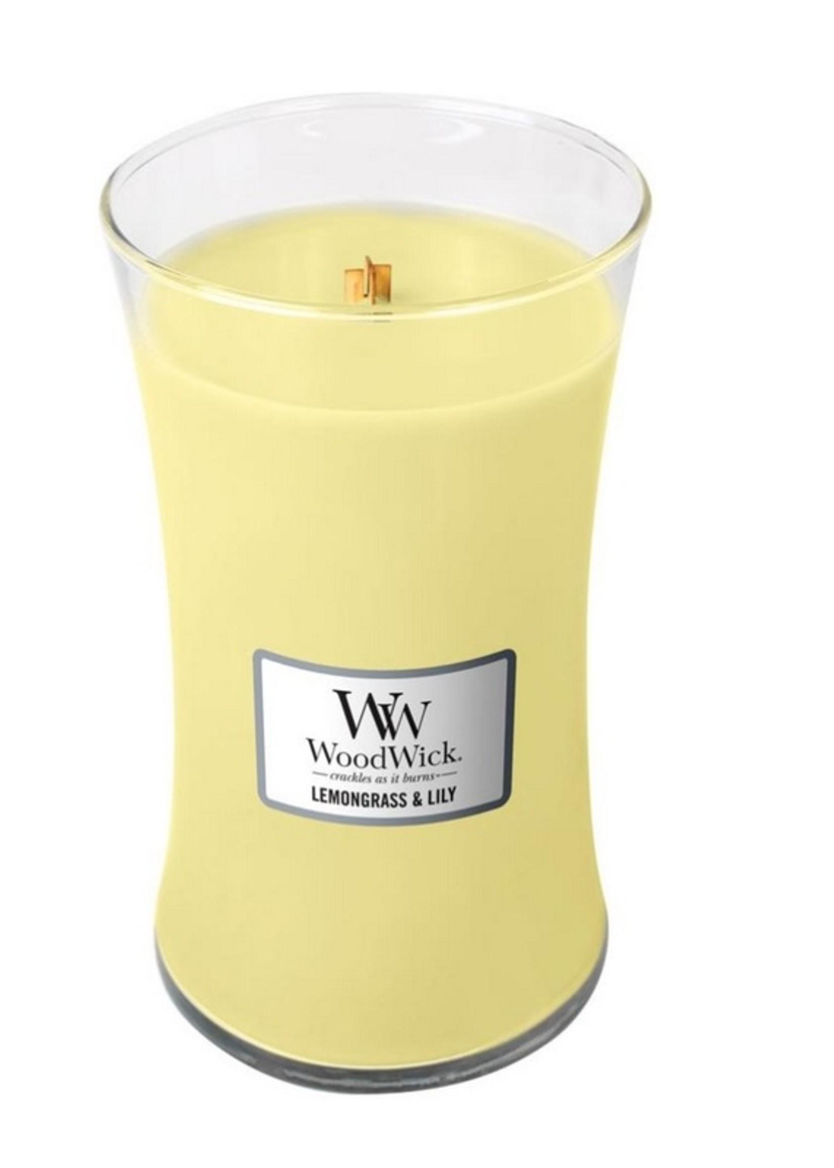 Woodwick Woodwick Lemongrass & Lilly Large Candle