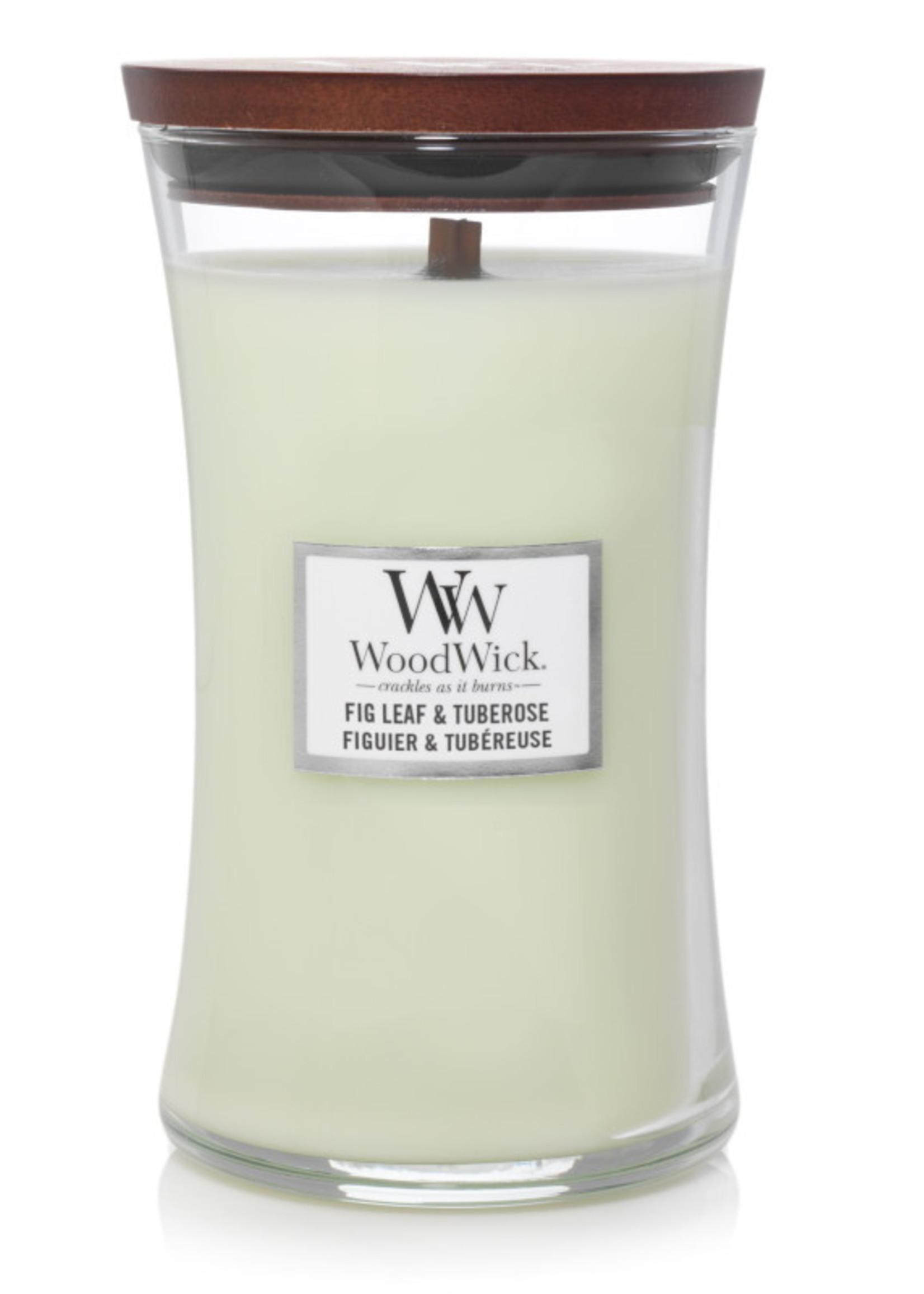 Woodwick Woodwick Fig Leaf & Tuberose Large Candle