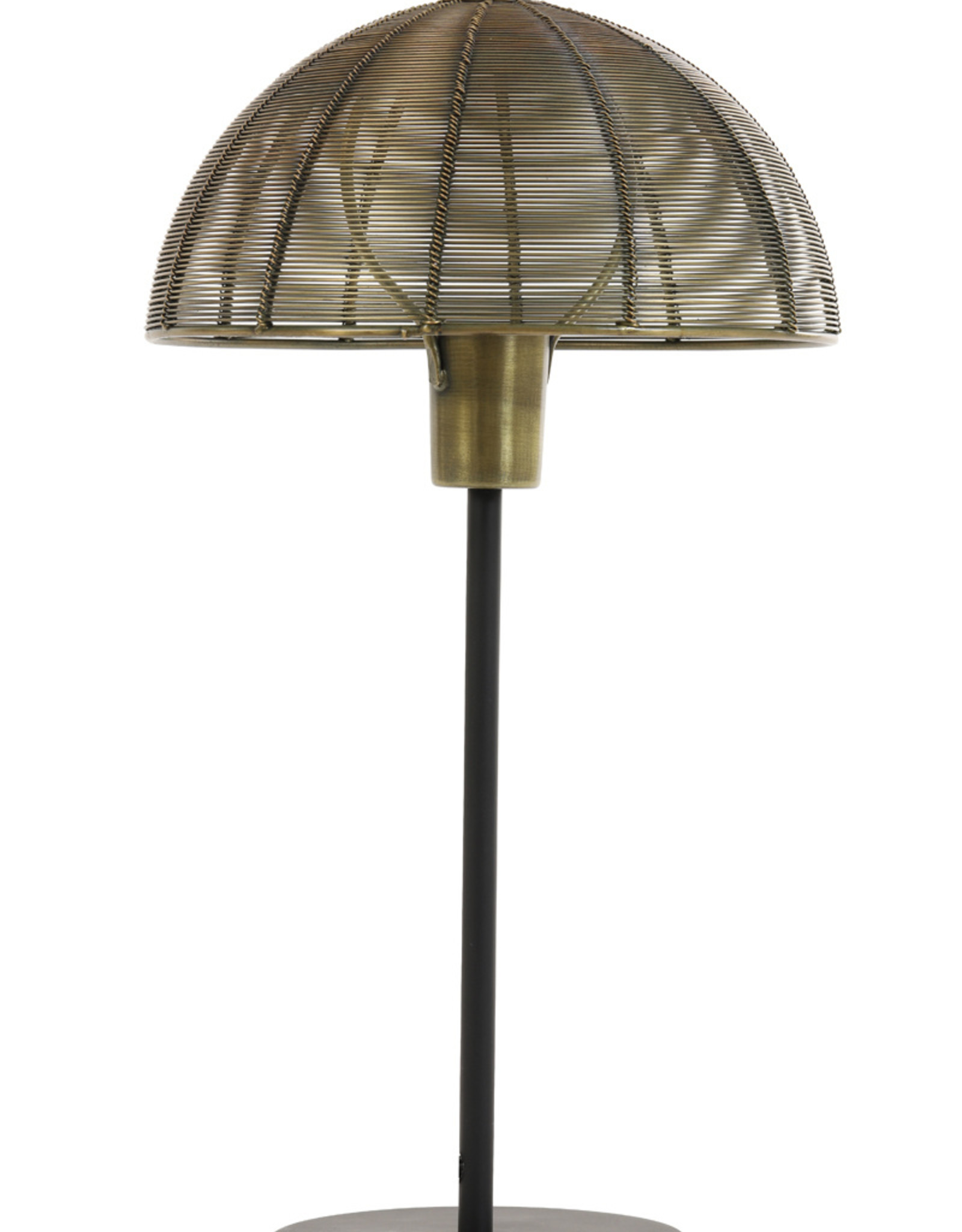 Light & Living Tafellamp 35x45 Klobu antique brass