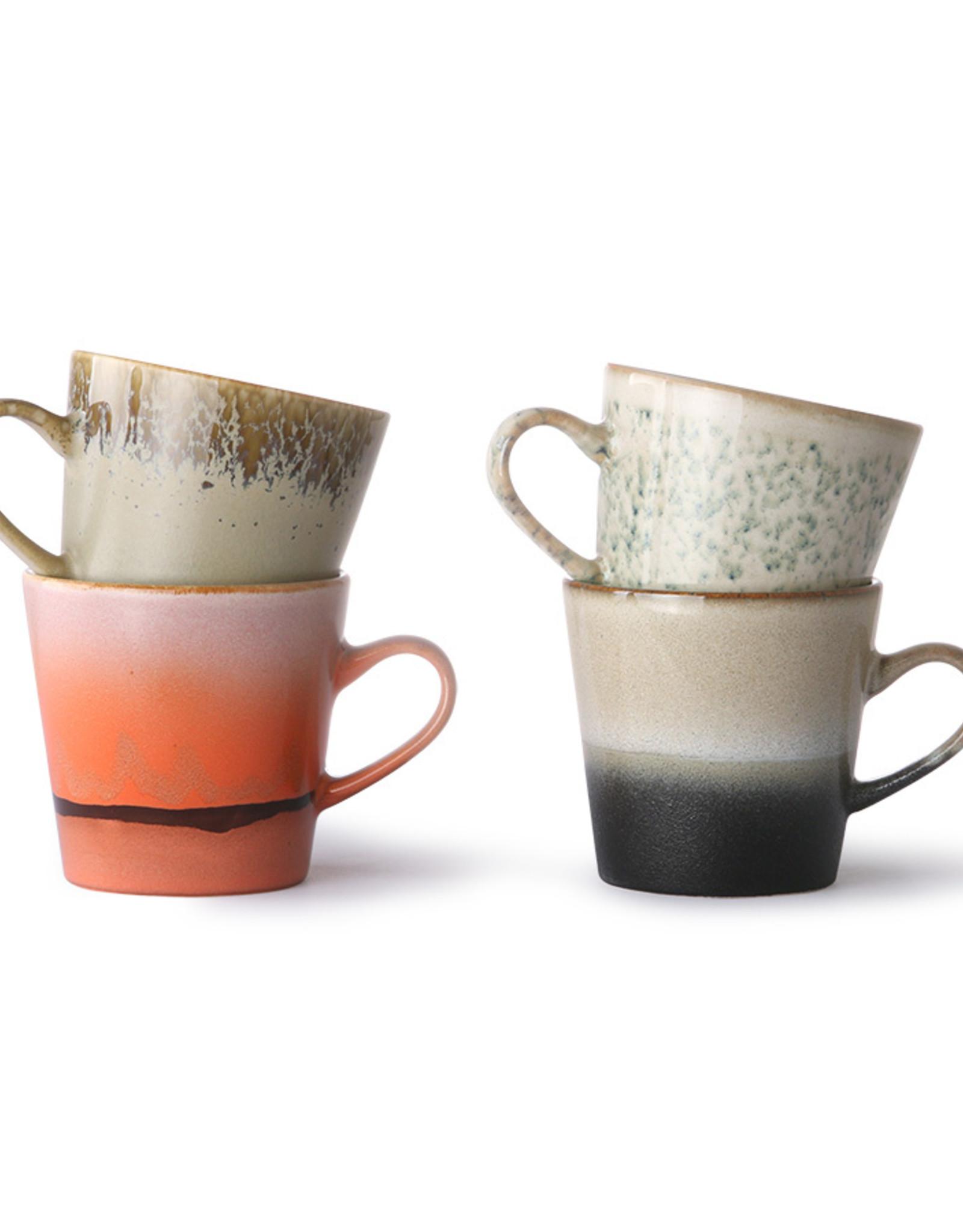HK living 70's Ceramics: Americano mugs (set of 4)