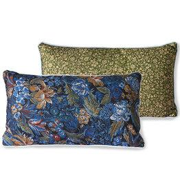 HK living DORIS for HKLIVING: printed cushion blue (35x60)
