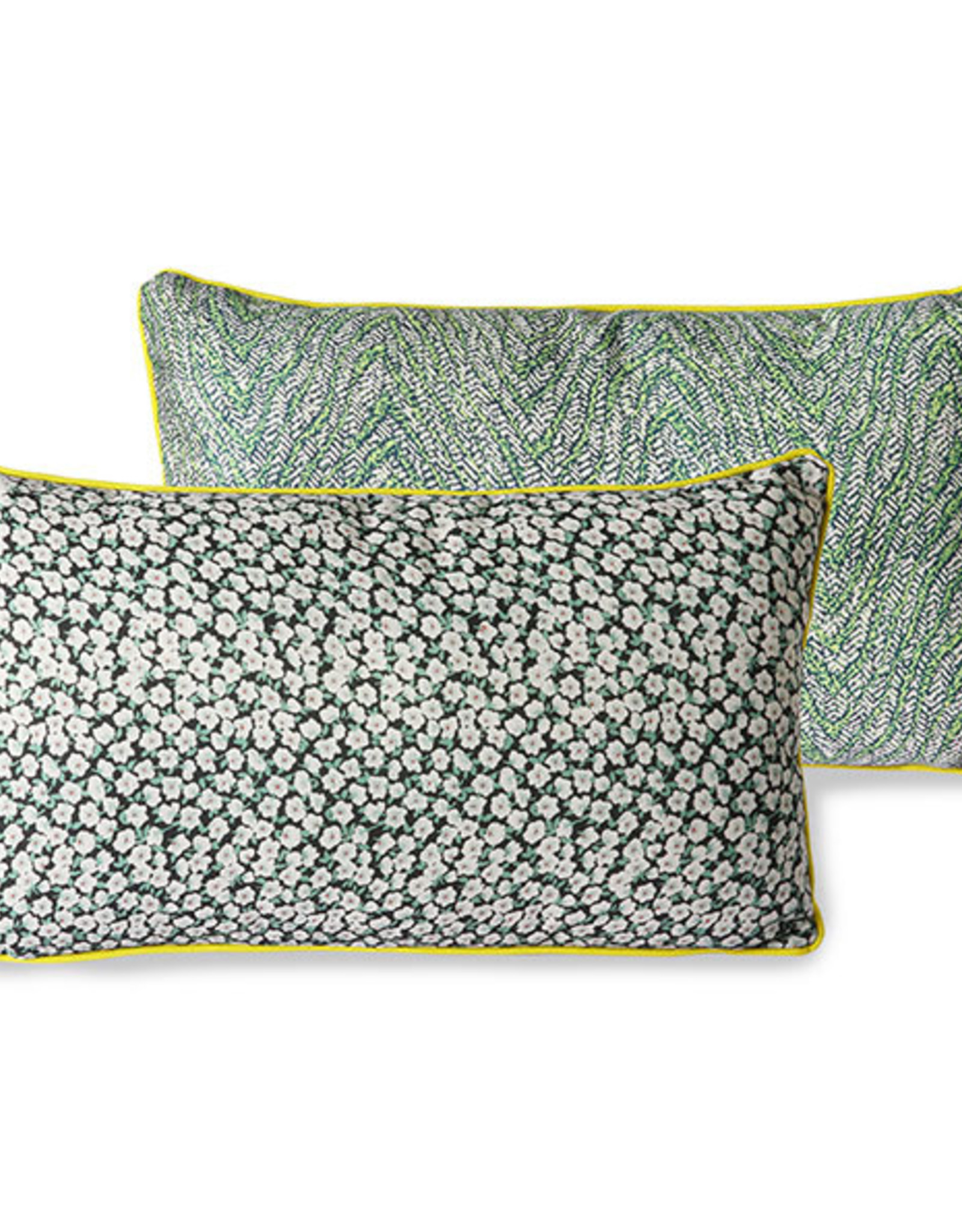 HK living Doris for HKLIVING: printed cushion green (35x60)