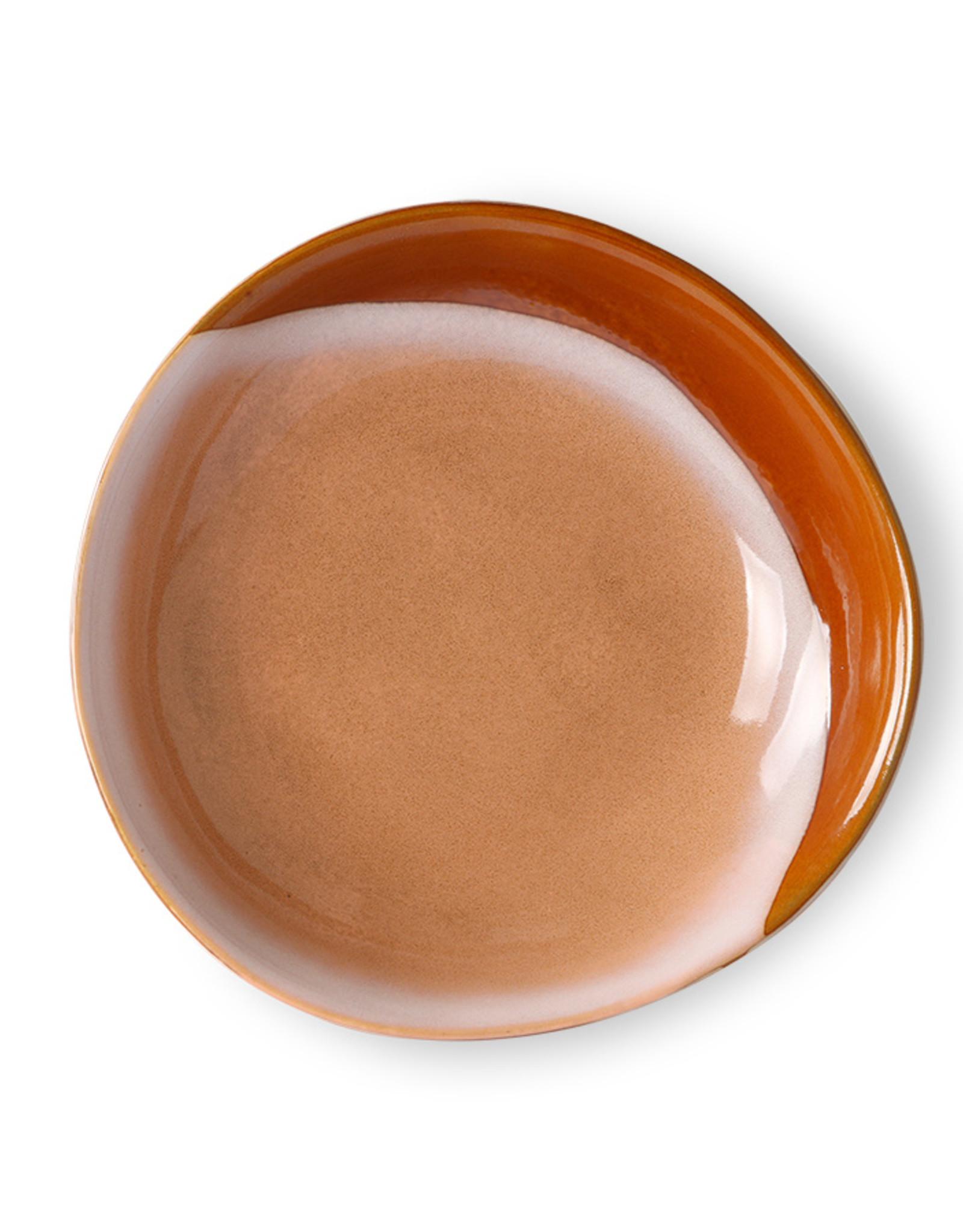 HK living Ceramic 70's Curry Bowl : Hills (set van 2)
