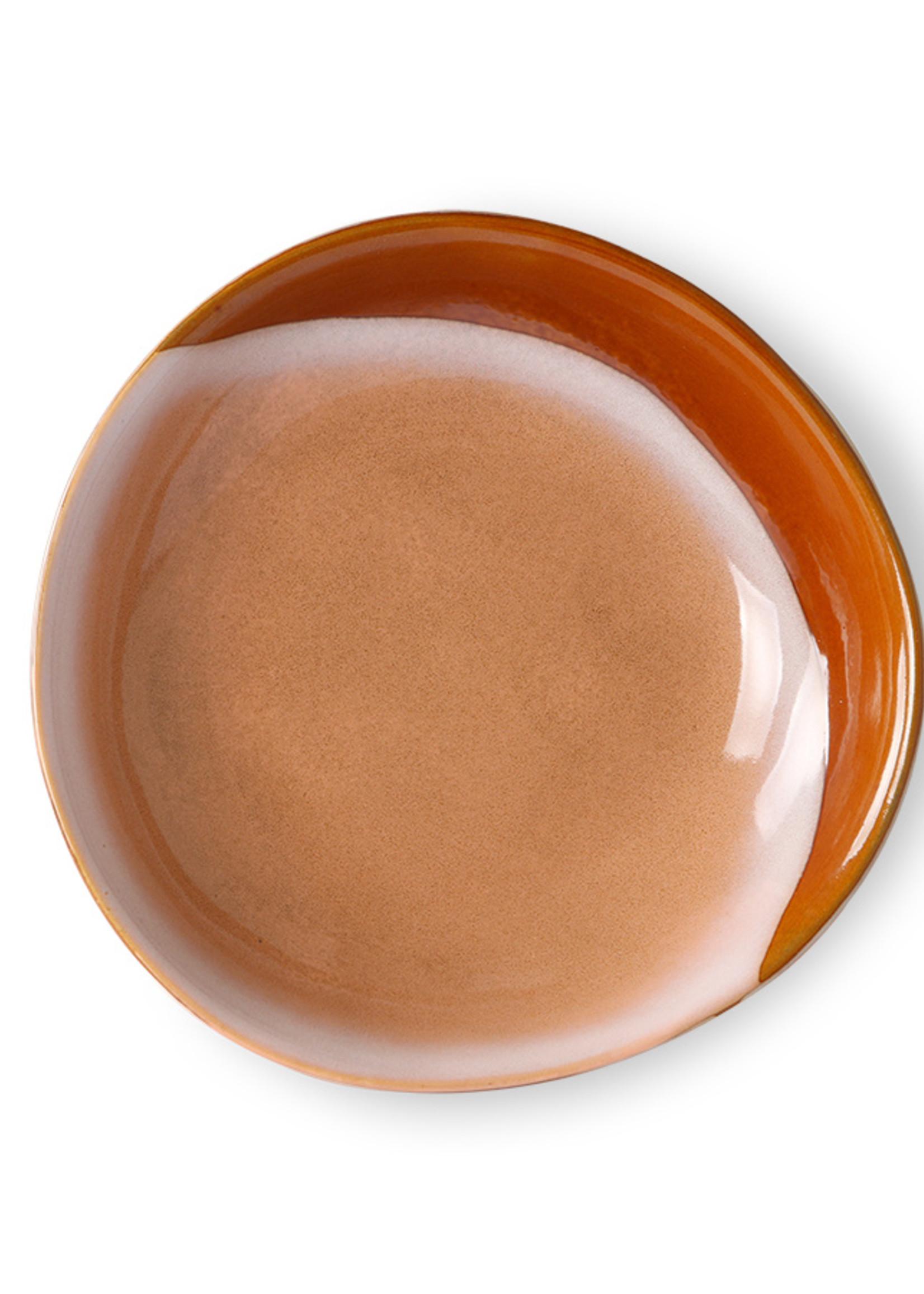 HK living Ceramic 70's Curry Bowl : Hills