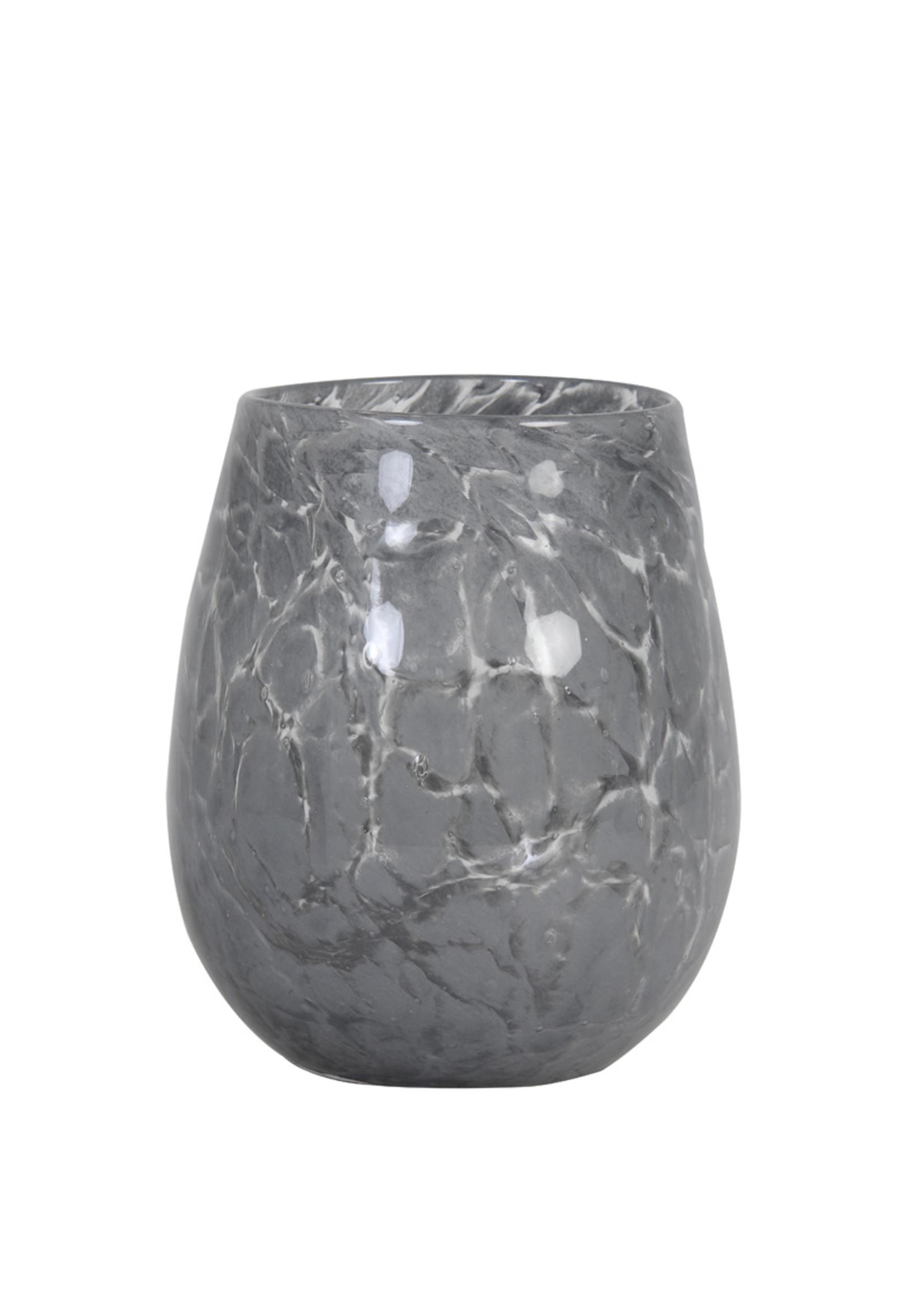 Light & Living Theelicht 13x14 Sylas glas grijs