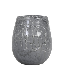 Light & Living Theelicht Sylas glas grijs