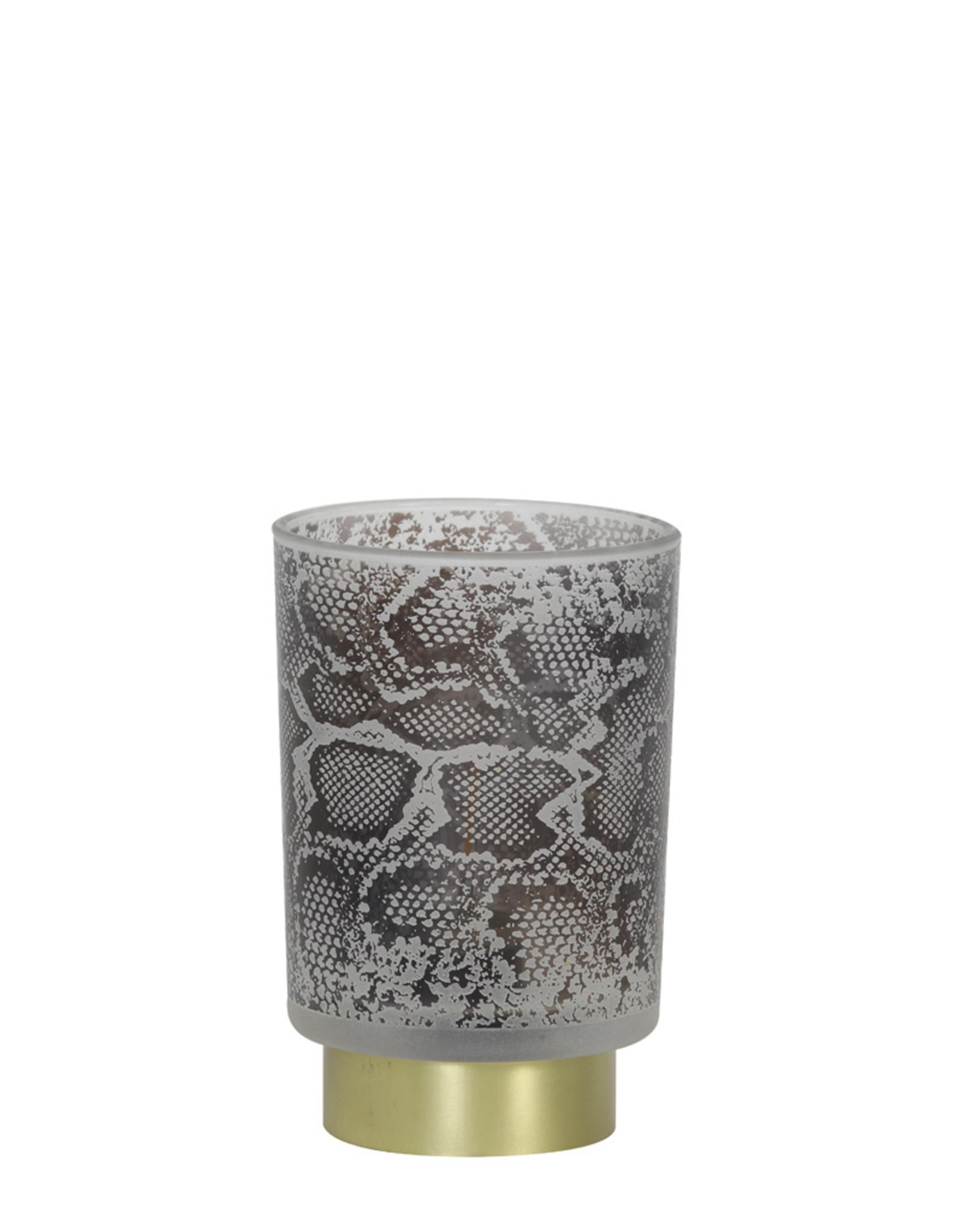 Light & Living Tafellamp LED10x12,5 Snake glas wit-zwart