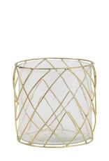 Light & Living Theelicht 17x18cm Sutton glas goud