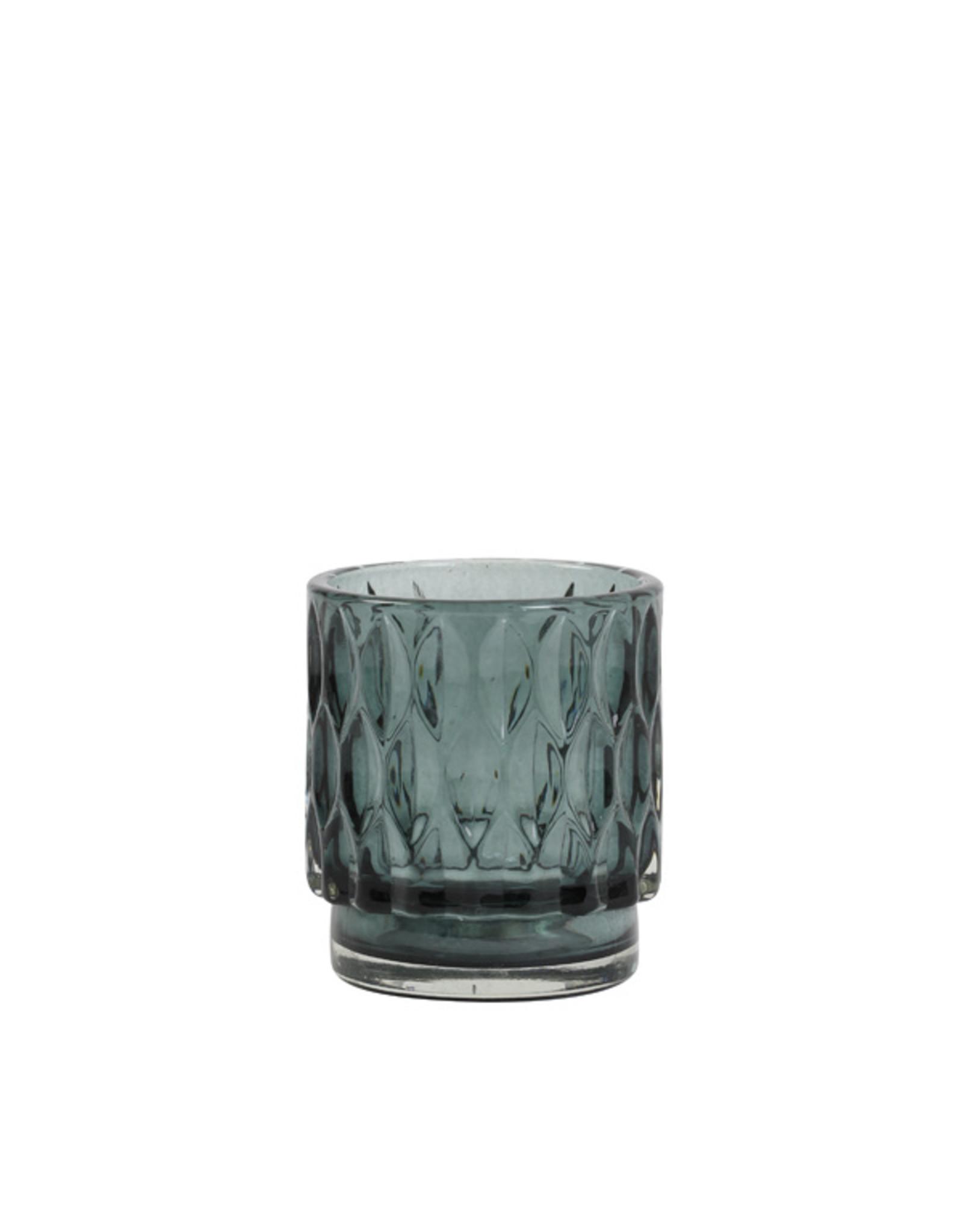 Light & Living Theelicht 7x8cm Grace glas donker groen