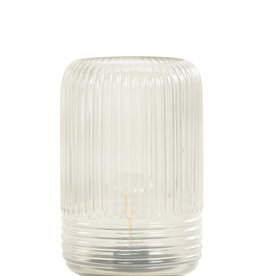 Light & Living Tafellamp LED Lipa glas warm grijs