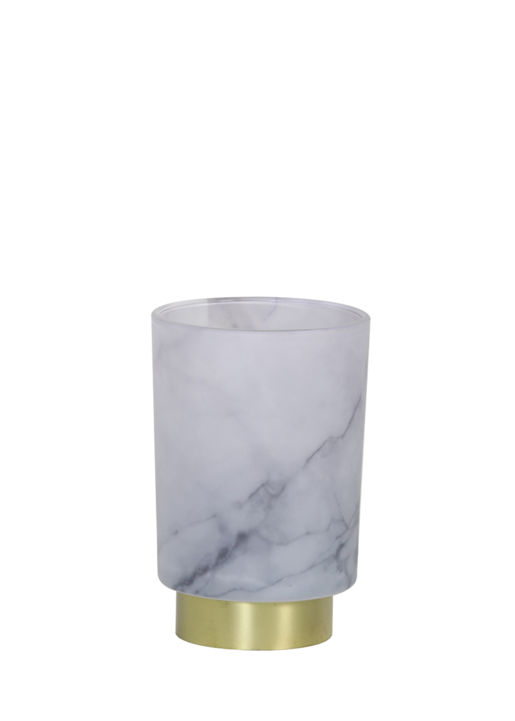 Light & Living Tafellamp Led 10x12.5cm Marble glas grijs