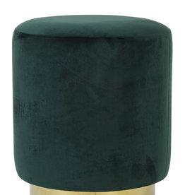 Light & Living Poef Nadien velvet donker groen