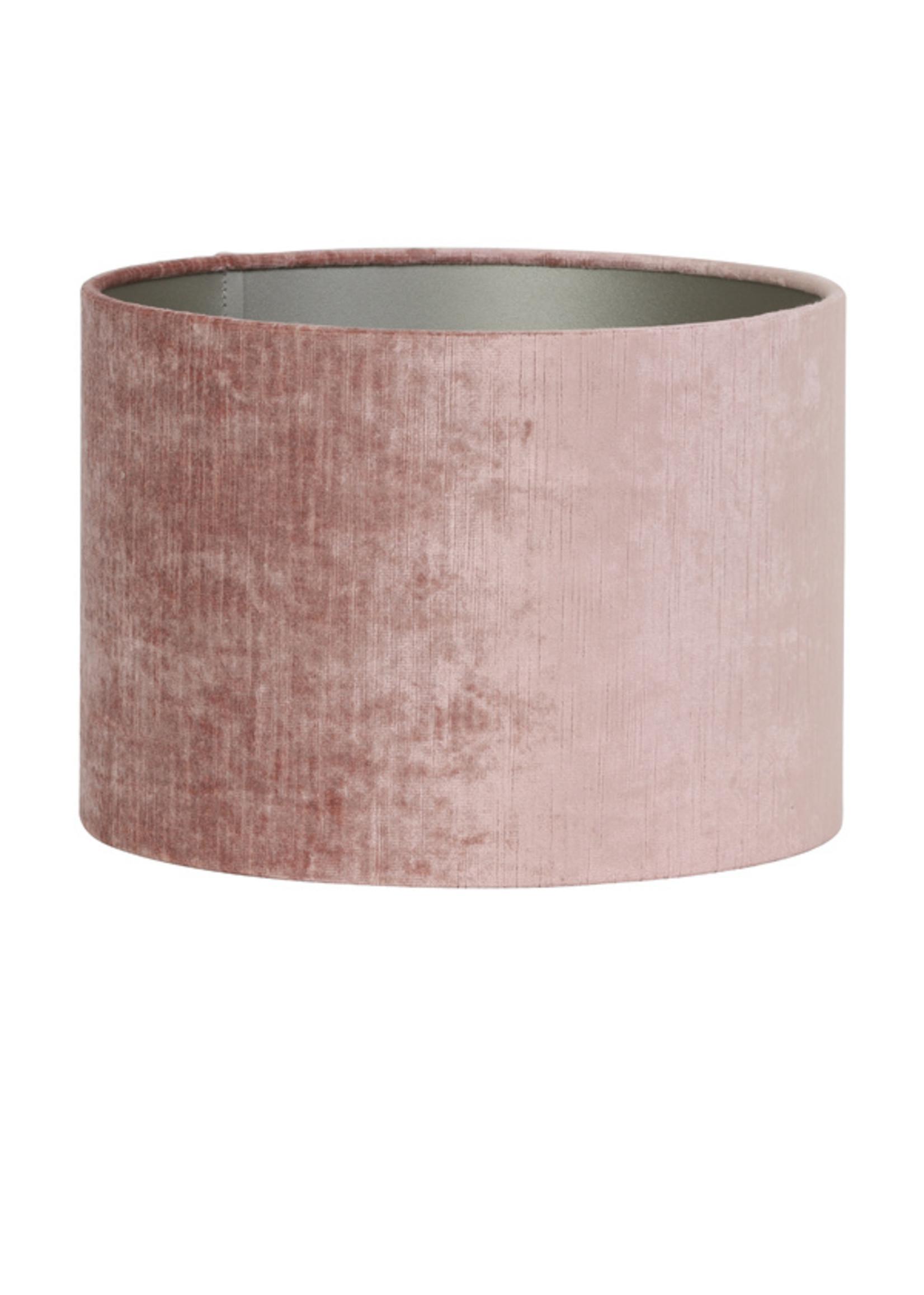 Light & Living Kap cilinder 30-30-21cm gemstone oud roze