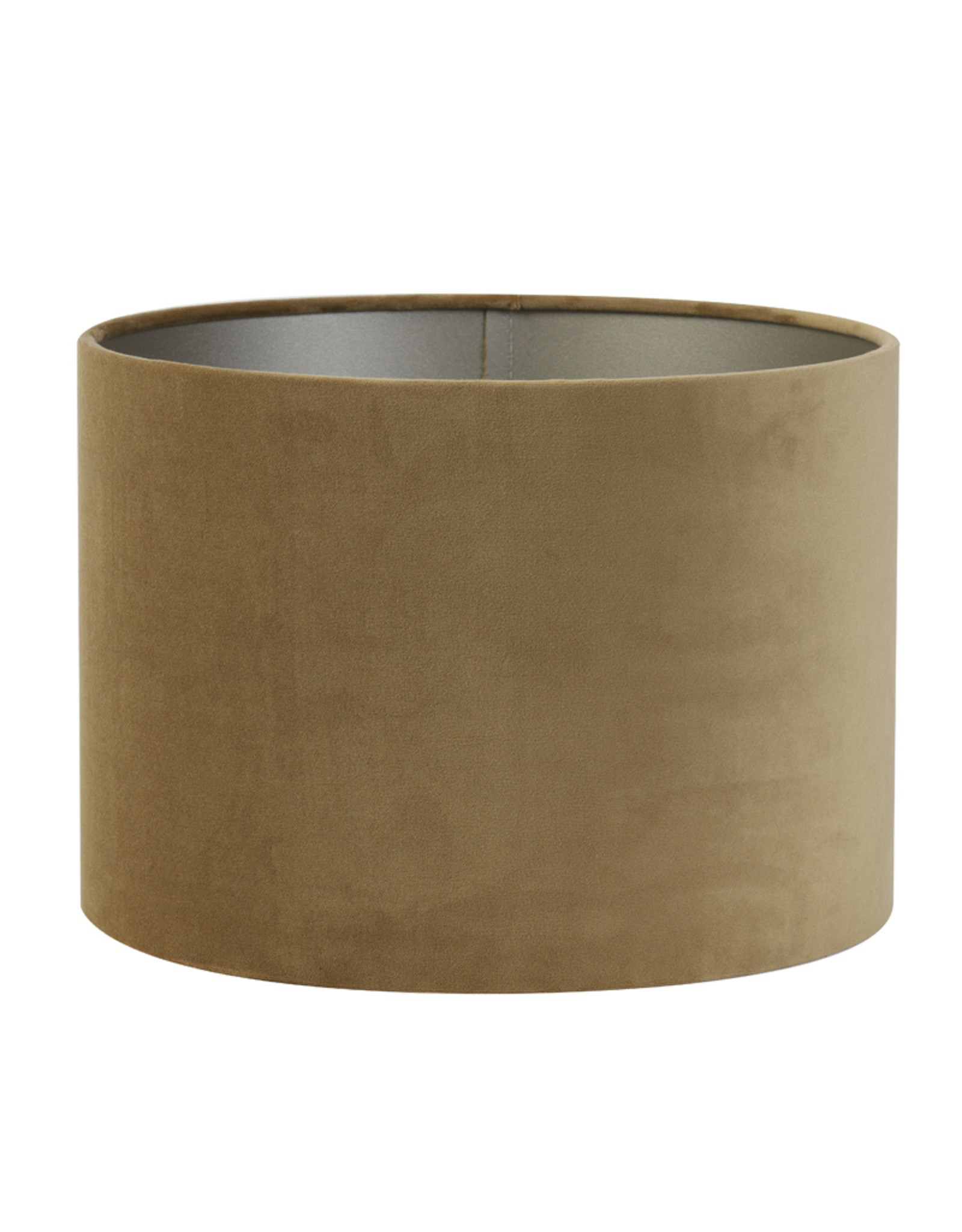 Light & Living Kap cilinder 25-25-18cm velours karamel