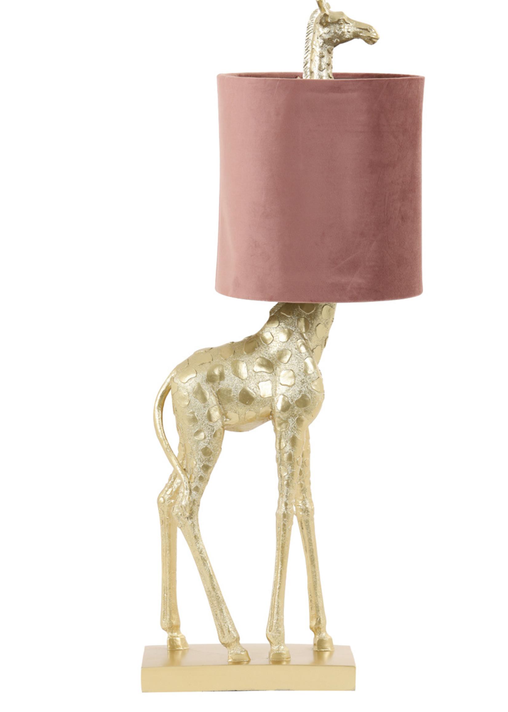 Light & Living Tafellamp 28x20x68cm Giraffe goud+velvet