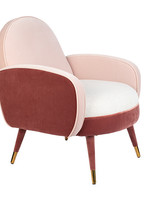 Zuiver Fauteuil sam pink/white