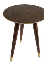 Zuiver Side table bast brass