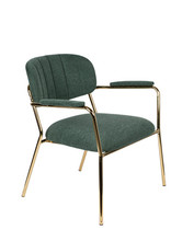 Zuiver Fauteuil Jolien arm gold/dark green