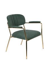 Zuiver Lounge chair Jolien arm gold/dark green