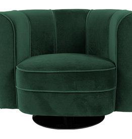 Dutchbone Lounge Chair Flower Green