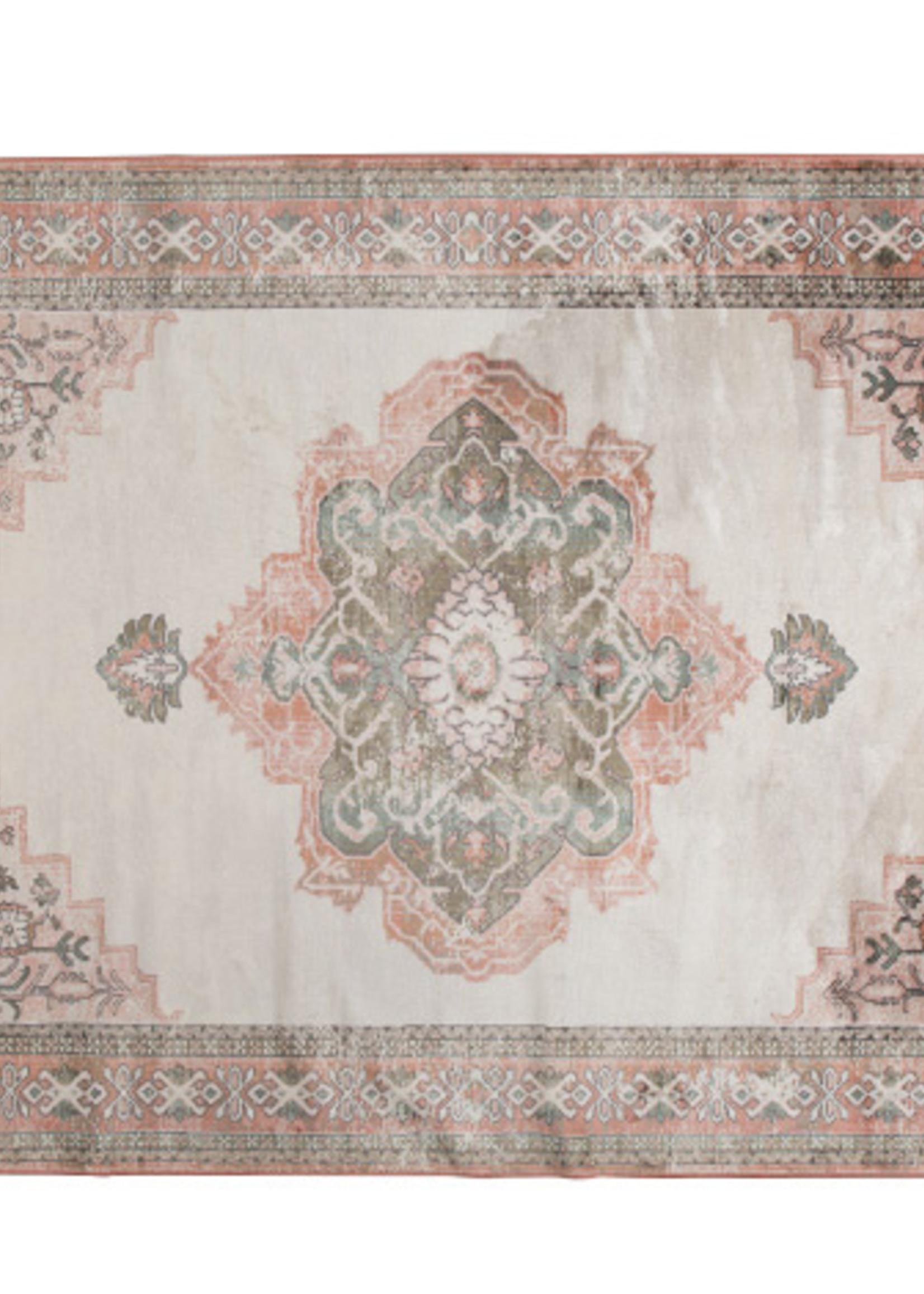 Dutchbone Carpet Mahal Pink Olive 200x300