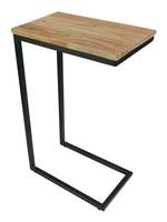 Moods Collection Bijzet-laptoptafel acaciahout + staal 41x26x66