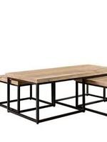 Moods Collection Salontafelset rechthoek hout met inschuiftafels