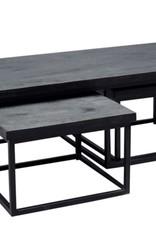 Moods Collection Tafelset rechthoek zwart met twee inschuiftafels