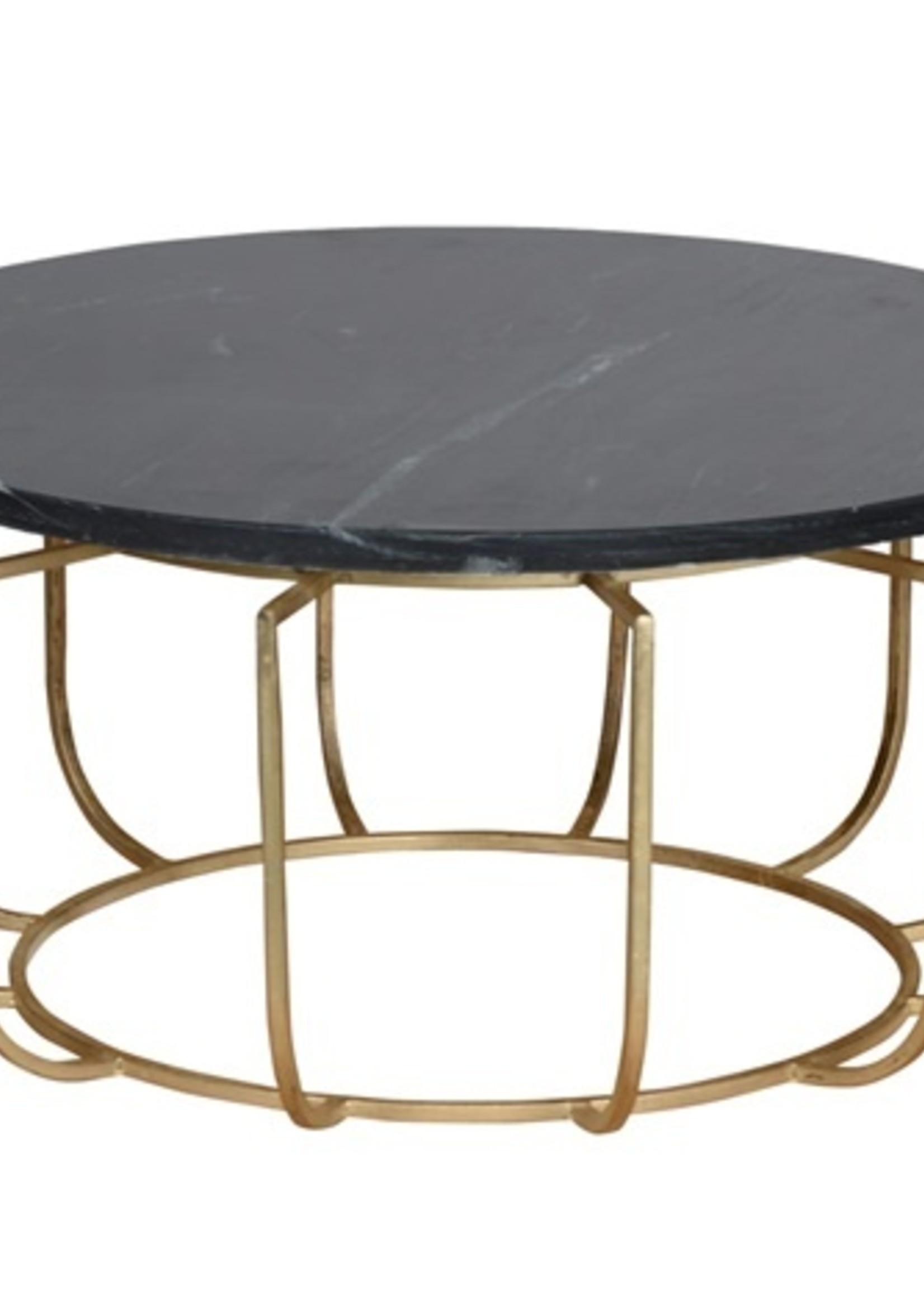 Moods Collection Salontafel - goud/zwart marmer
