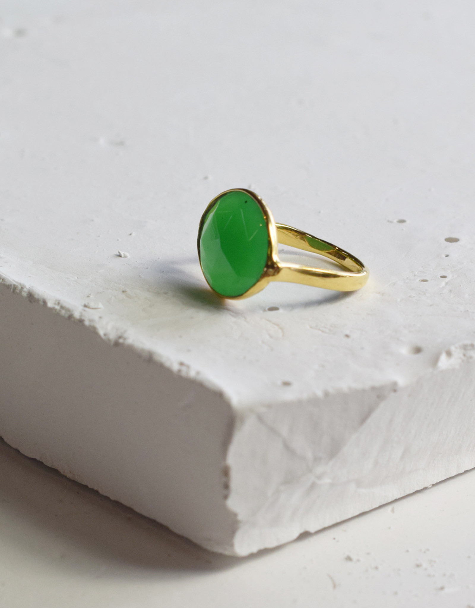By Bar Amsterdam PD Oval Ring green